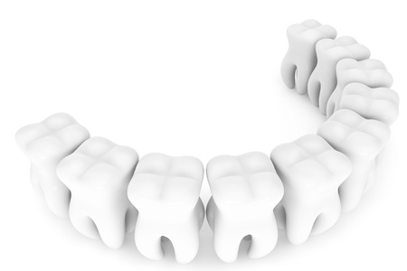 Stomatology concept. Extreme closeup tooth on a white background Stock Photo - 16061004