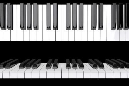 Piano keys closeup on a black background Stock Photo - 16604324