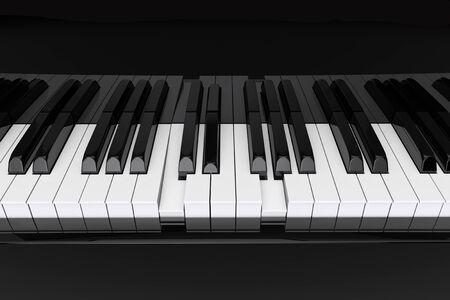 chord: The chord pressed on extreme closeup piano keys Stock Photo