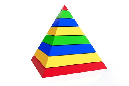 Abstract colorful pyramid on a white background photo