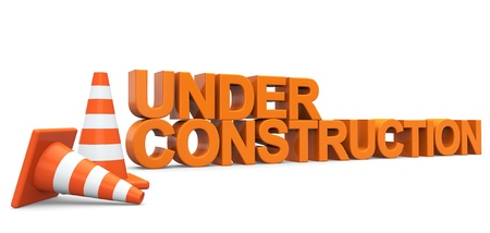 Under construction sign on a white background Stock Photo - 16604268