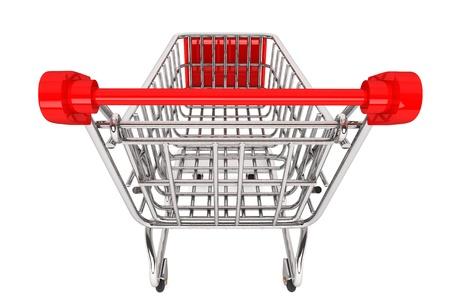 ショッピングのコンセプトです。白い背景の上ショッピングカート