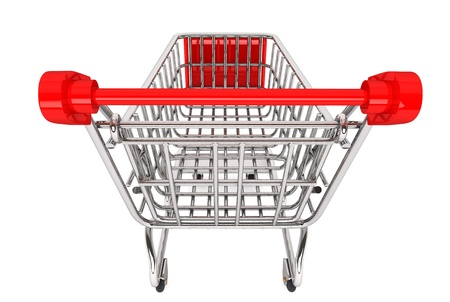 chrome cart: Shopping Concept. Shopping Cart on a white background