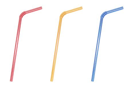 Closeup Drinking straws set on a white background Stock Photo - 17094513