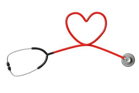 Stethoscope In Shape Of Heart on a white background Stock Photo - 17094520