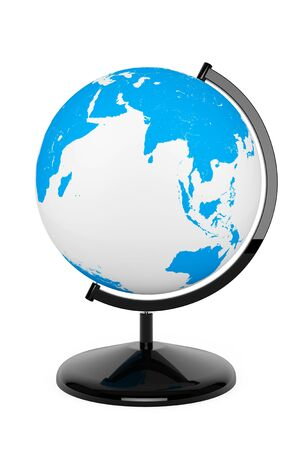 World desktop globe on a white background photo