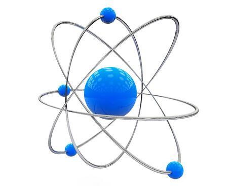 orbital: Orbital model of atom on a white background Stock Photo
