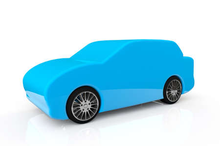 Blue Abstract Car on a white background Stock Photo - 18370951