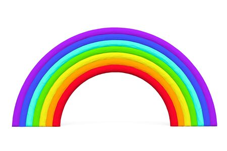 Colorful toy plasticine rainbow on a white background Stock Photo