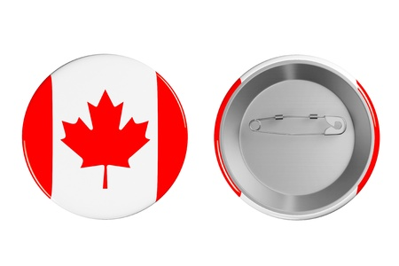 Badges with Canada flag on a white background photo