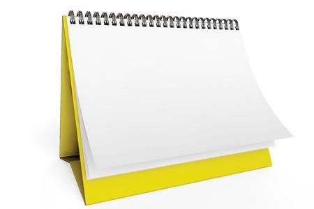 Desk Blank Calendar on a white background