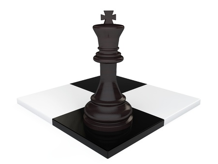 Leadership concept. Chess King on a white background photo