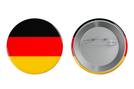 Badges with Germany flag on a white background photo