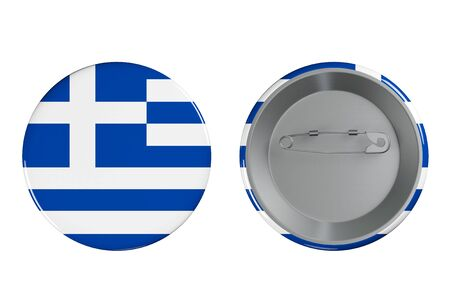 Badges with Greece flag on a white background photo