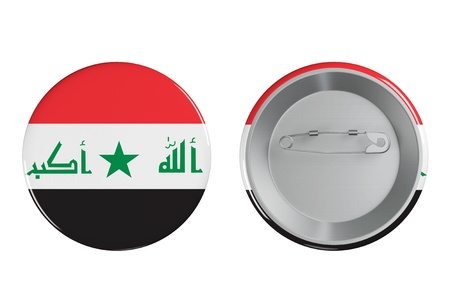 basra: Badges with Iraq flag on a white background