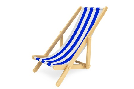 3d beach chair on a white background Stock Photo - 20620940