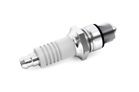 Spark plug for the car on a white background Stock Photo - 21221724
