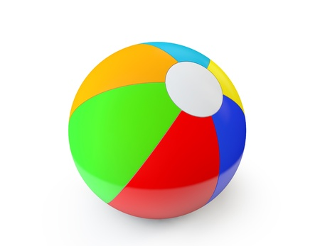 Colorful Beach Ball on a white background photo