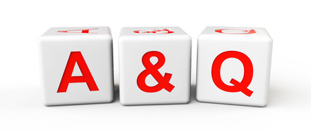 Colorful Blocks with Answer and Question sign on a white background Stock Photo - 22266958