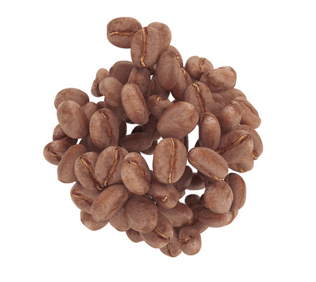 Heap of Coffee beans isolated on a white background photo