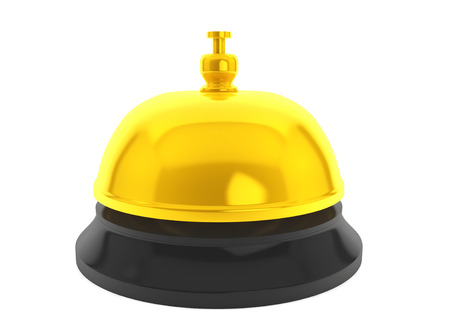 Golden Service Bell on a white background photo