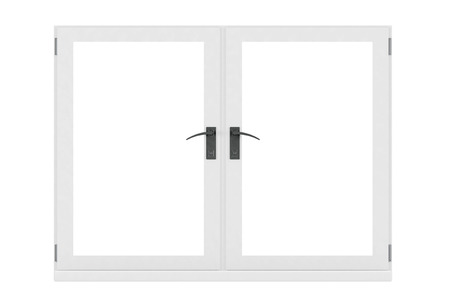 Closed Window isolated on a white background 版權商用圖片