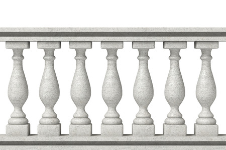 balustrade: Balustrade Pillars on a white background
