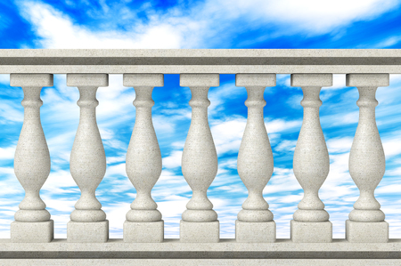 Balustrade Pillars on a sky background photo