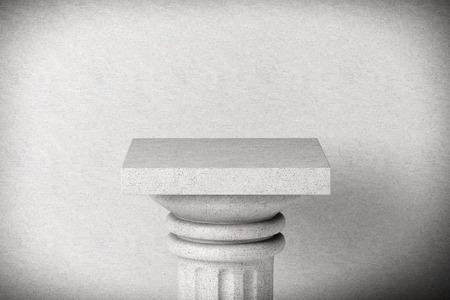 Stone Classic Greek Column on a concrete background photo
