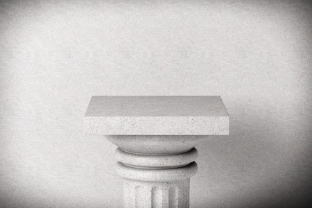 Stone Classic Greek Column on a concrete background