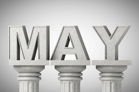 grecian: May month sign on a greek style classic columns