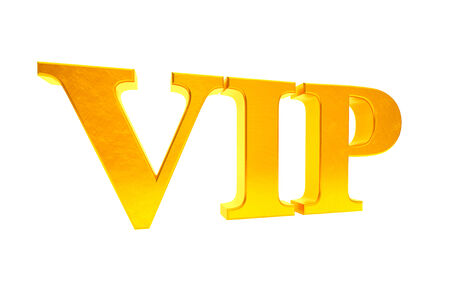 Golden VIP abbreviation on a white background photo
