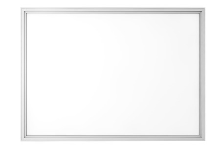 Blank Classroom Whiteboard isolated on a white background photo