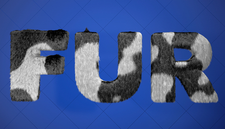 whine: Black and Whine Fur sign on a blue background Stock Photo