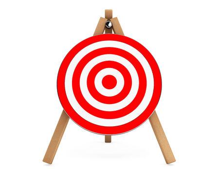 marksmanship: 3d Darts Target on a white background