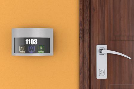 高級ホテル部屋番号表示電子門札タッチ ドアベル スイッチ