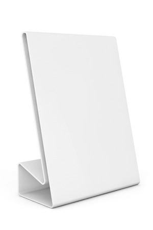 wedding tent: White Blank table plate card on a white background