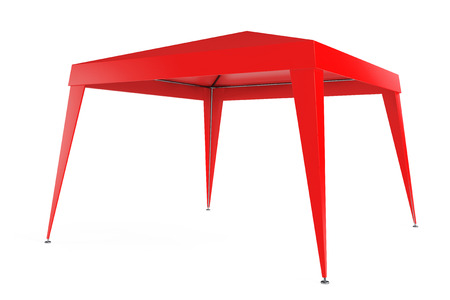 Red Canopy Tent on a white background photo