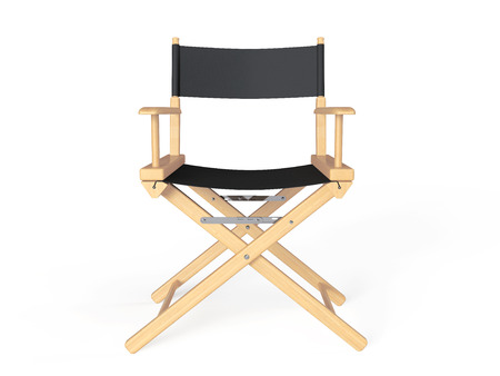 folding screens: Cinema Industry Concept. Directors Chair on a white background