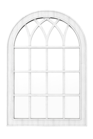window frame: White Wooden Window on a white background