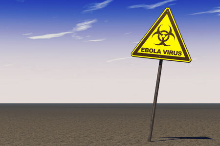 epidemy: Ebola Virus Warning Sign on a sky