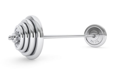 kilos: Chrome Lifting Weight on a white background