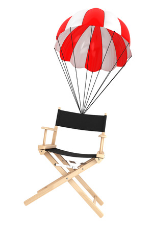 director's chair: Parachute with Directors Chair on a white
