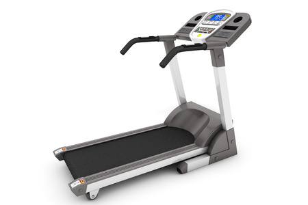 home trainer: Treadmill Machine on a white background
