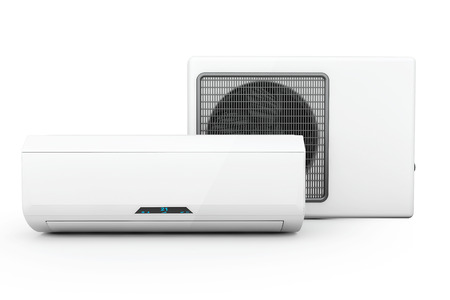 Modern air conditioner on a white background