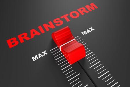 max: Max Brainstorm Value Mixer Slider extreme closeup