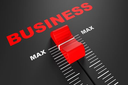 max: Max Business Value Mixer Slider extreme closeup Stock Photo