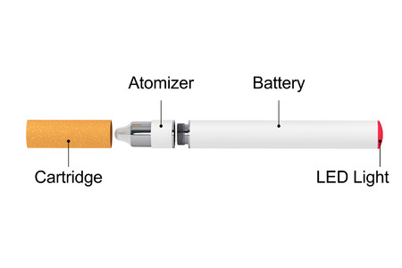 purported: Electronic Cigarette on a white background Archivio Fotografico