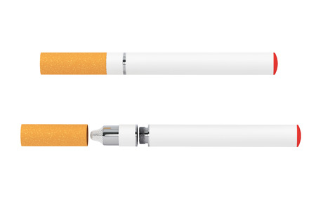 purported: Electronic Cigarette on a white background Stock Photo