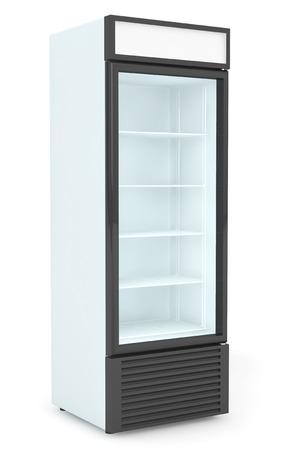 Fridge Drink with glass door on a white background 版權商用圖片 - 35981952